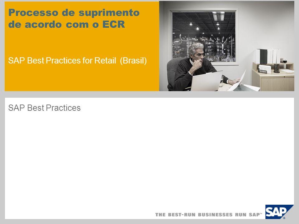 Processo de suprimento de acordo com o ECR SAP Best Practices for Retail (Brasil)