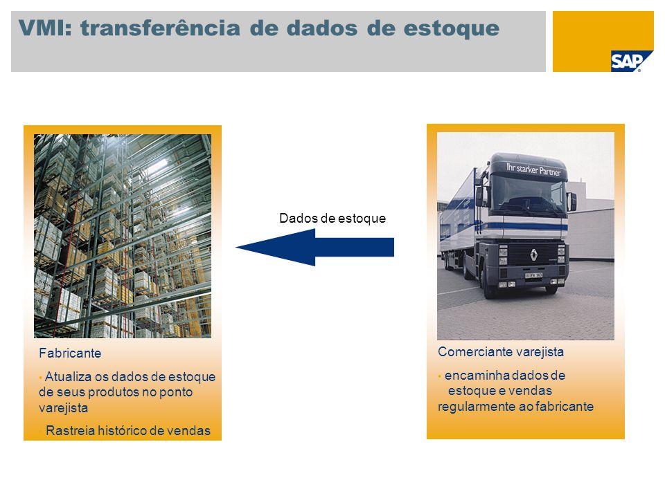 VMI: transferência de dados de estoque
