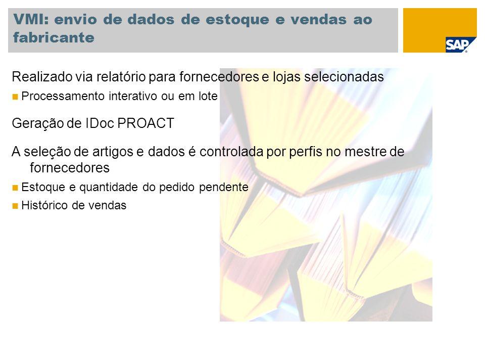 VMI: envio de dados de estoque e vendas ao fabricante