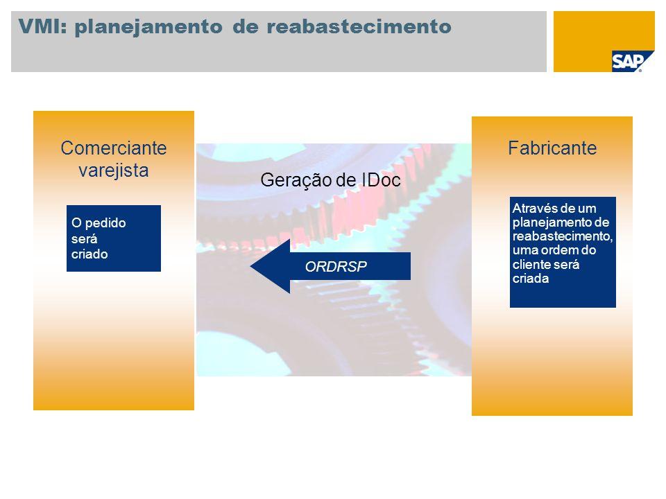 VMI: planejamento de reabastecimento