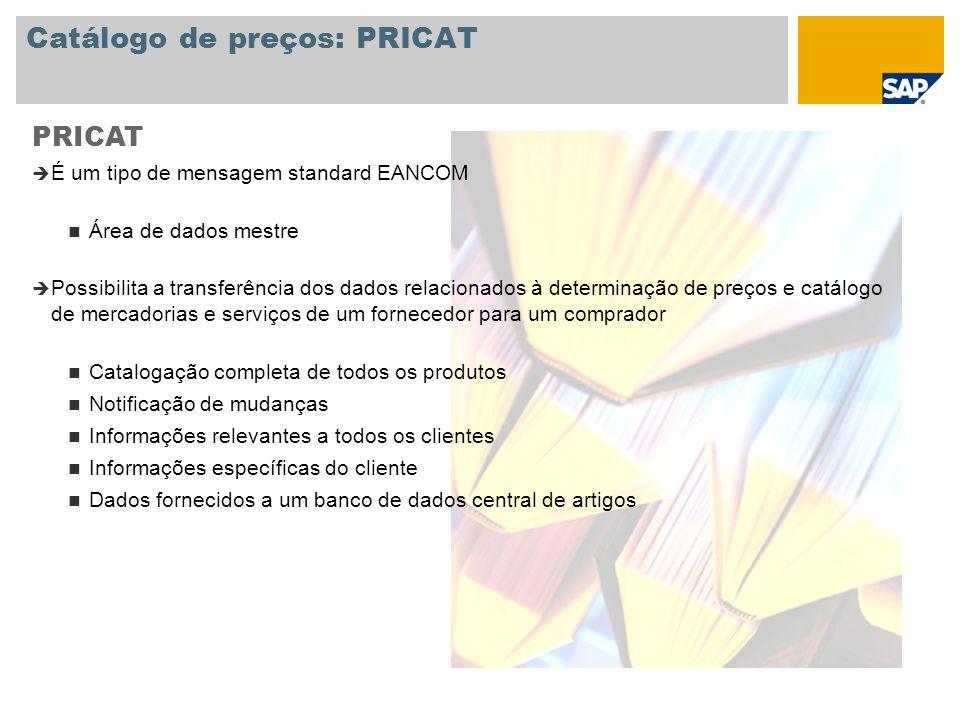 Catálogo de preços: PRICAT