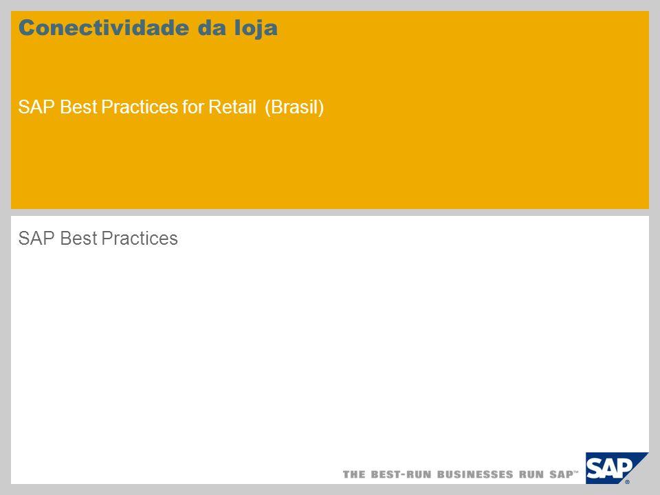 Conectividade da loja SAP Best Practices for Retail (Brasil)