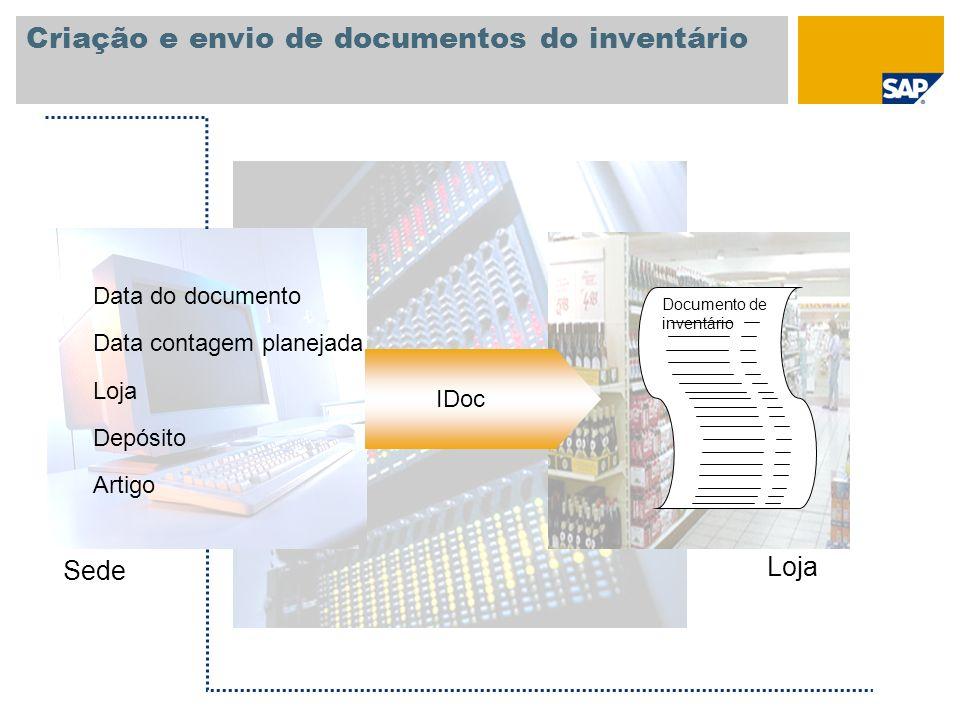 Criação e envio de documentos do inventário