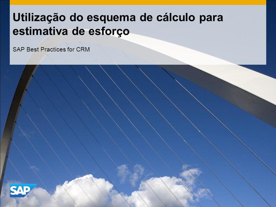 Utilização do esquema de cálculo para estimativa de esforço