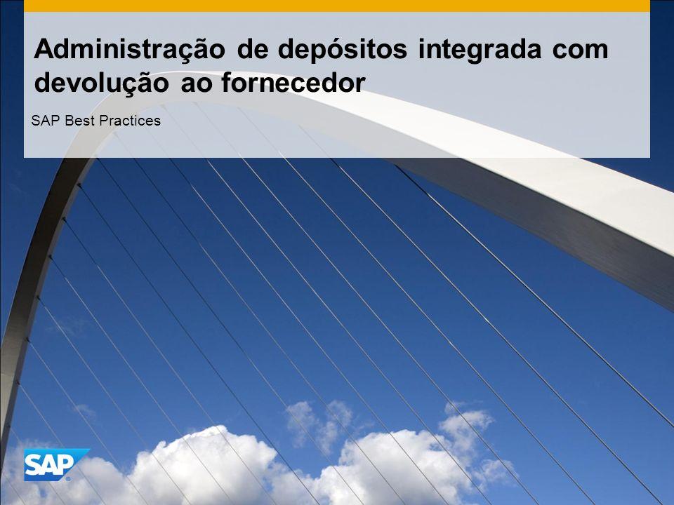 Administração de depósitos integrada com devolução ao fornecedor