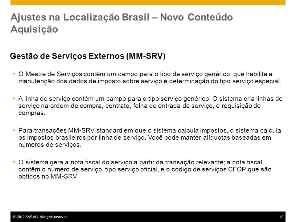 Ajustes na Localização Brasil – Novo Conteúdo Aquisição