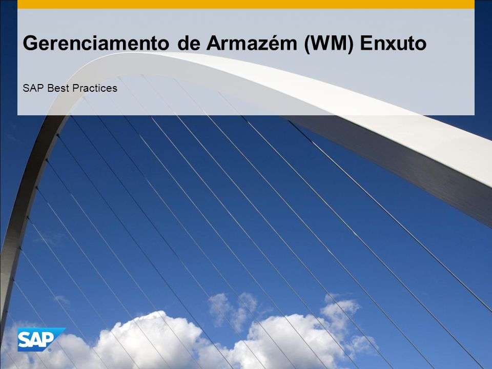 Gerenciamento de Armazém (WM) Enxuto
