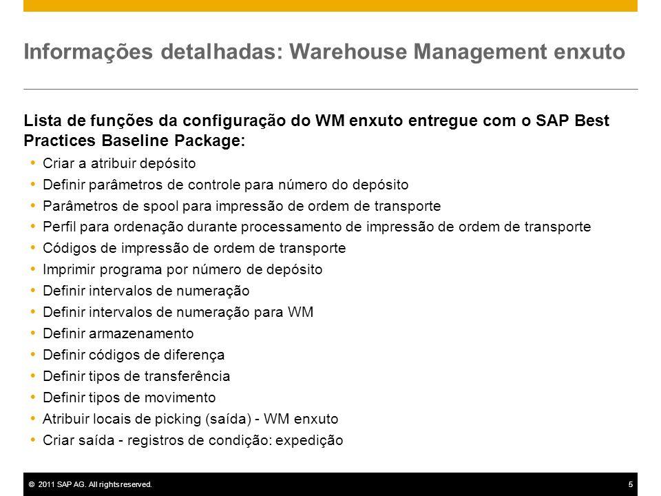 Informações detalhadas: Warehouse Management enxuto