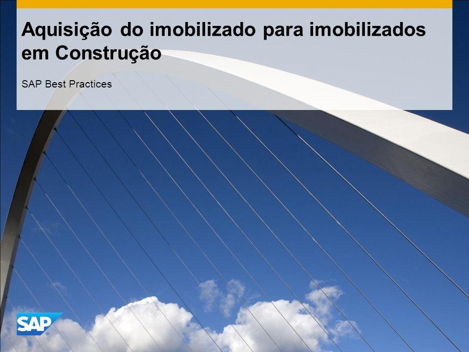 Aquisição do imobilizado para imobilizados em Construção