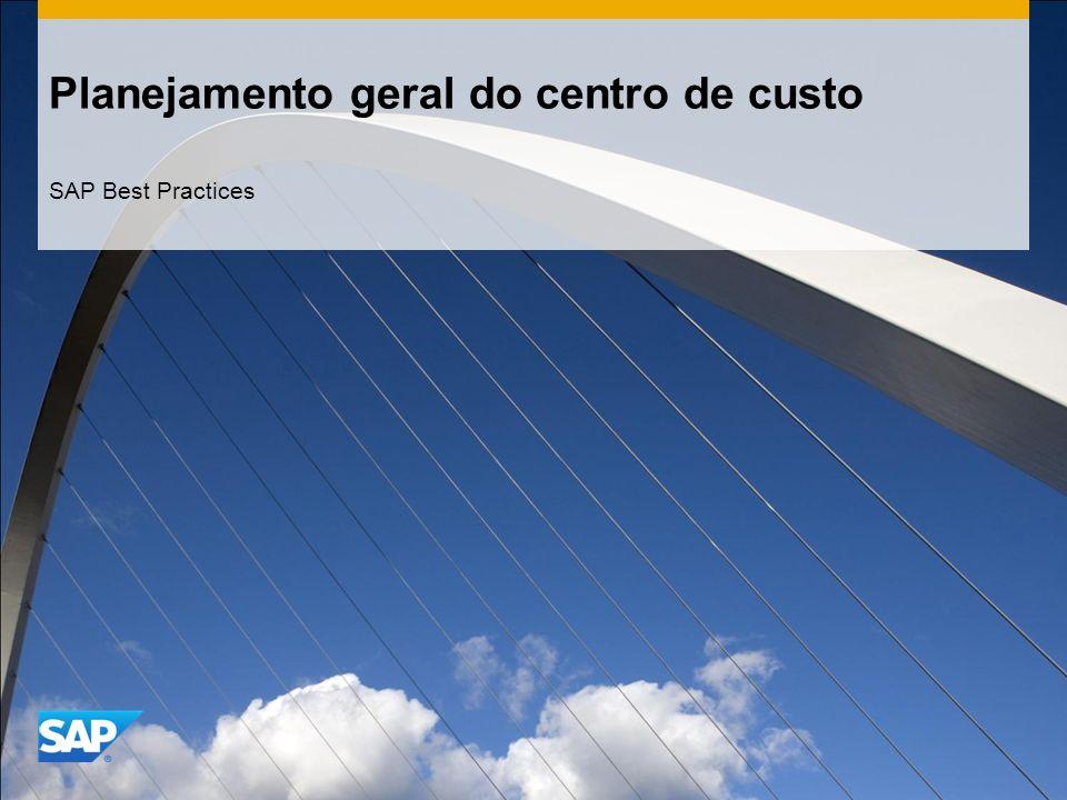 Planejamento geral do centro de custo