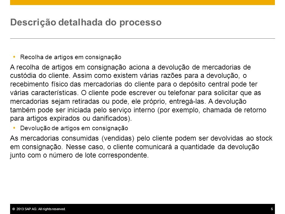 Descrição detalhada do processo