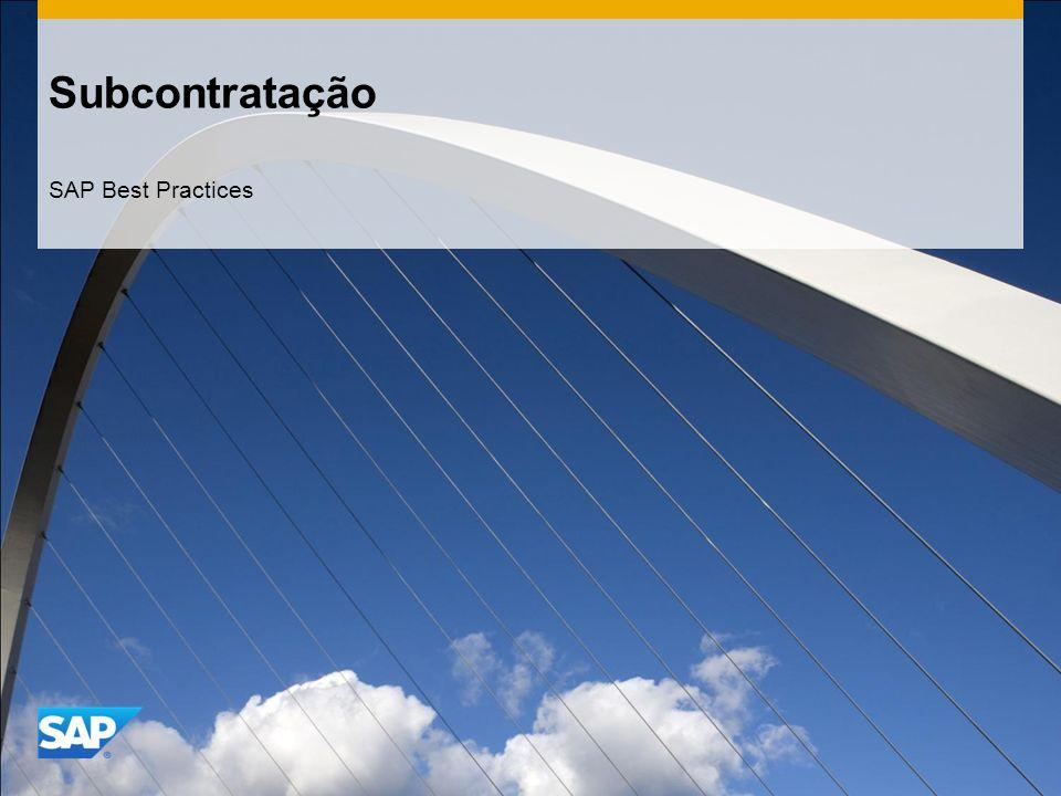 Subcontratação SAP Best Practices