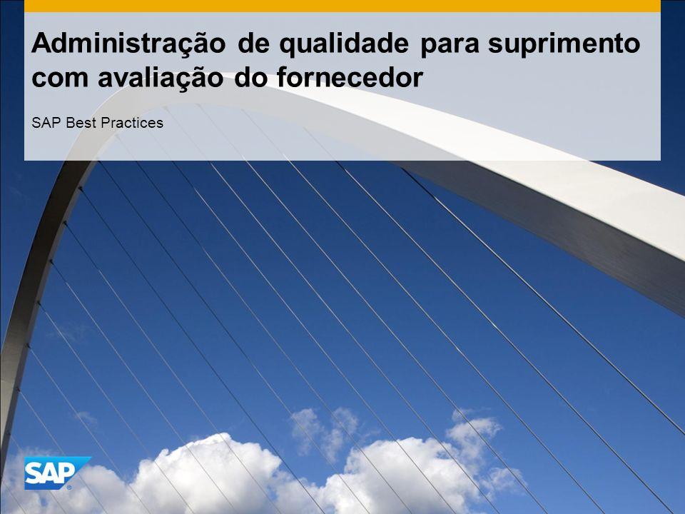 Administração de qualidade para suprimento com avaliação do fornecedor