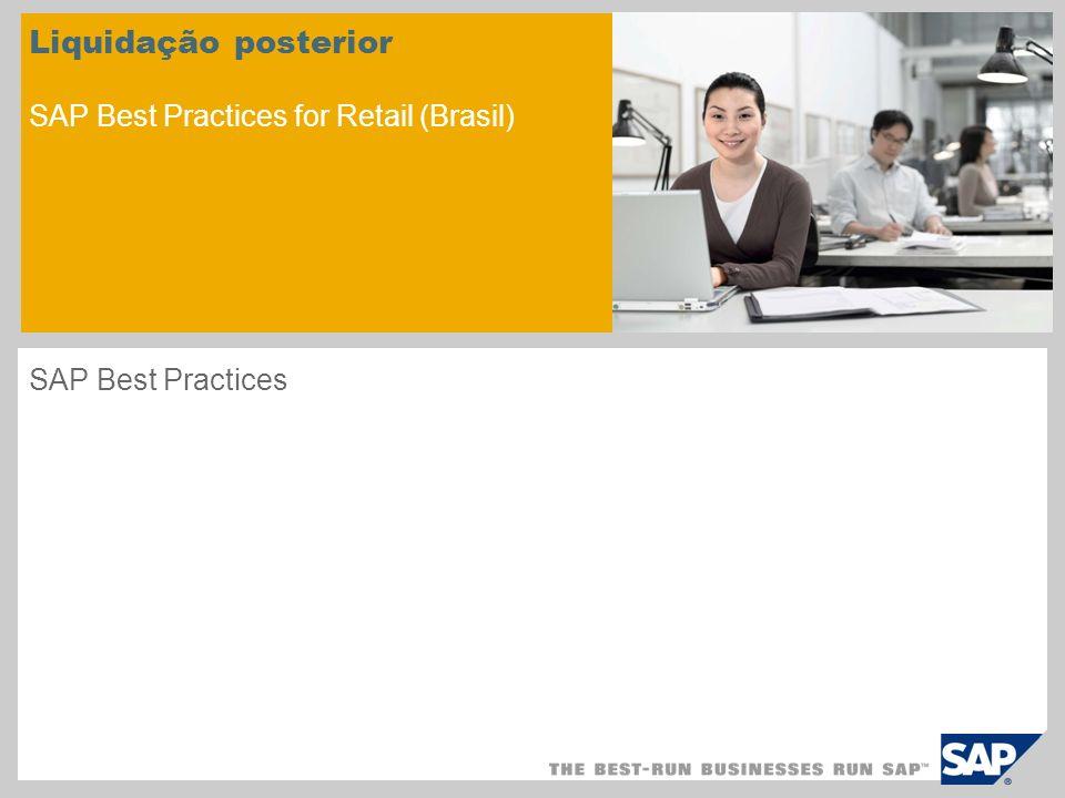 Liquidação posterior SAP Best Practices for Retail (Brasil)