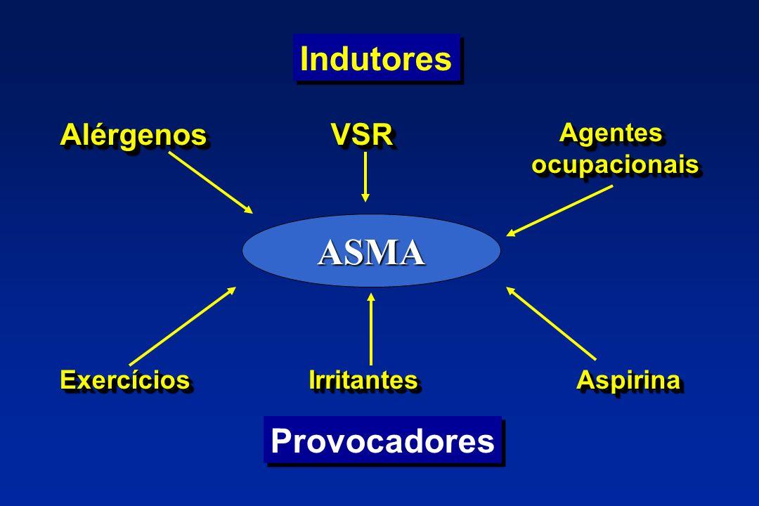 ASMA Indutores Provocadores Alérgenos VSR Agentes ocupacionais