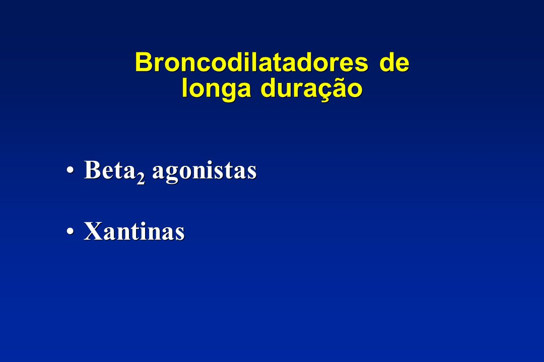 Broncodilatadores de longa duração