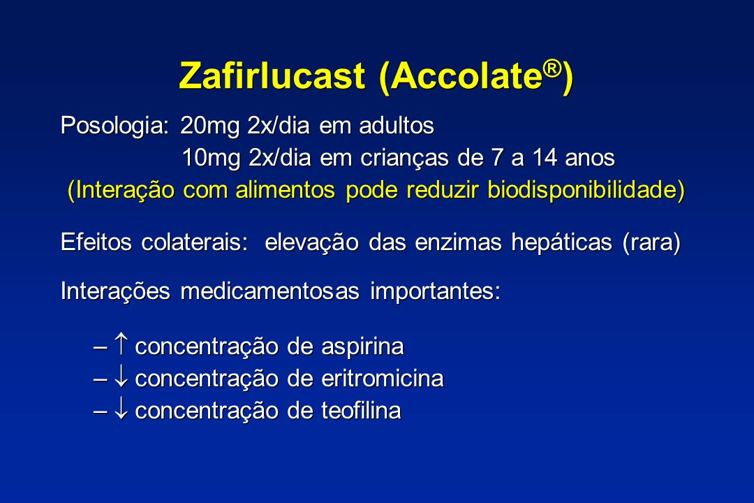 Zafirlucast (Accolate®)