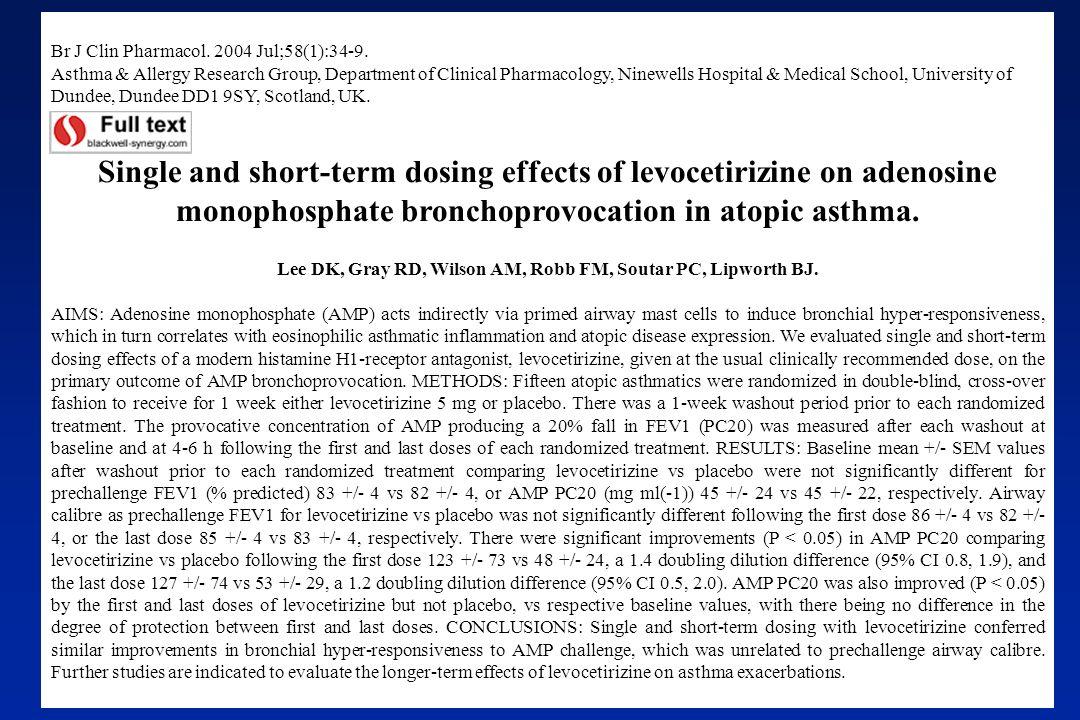Br J Clin Pharmacol. 2004 Jul;58(1):34-9.
