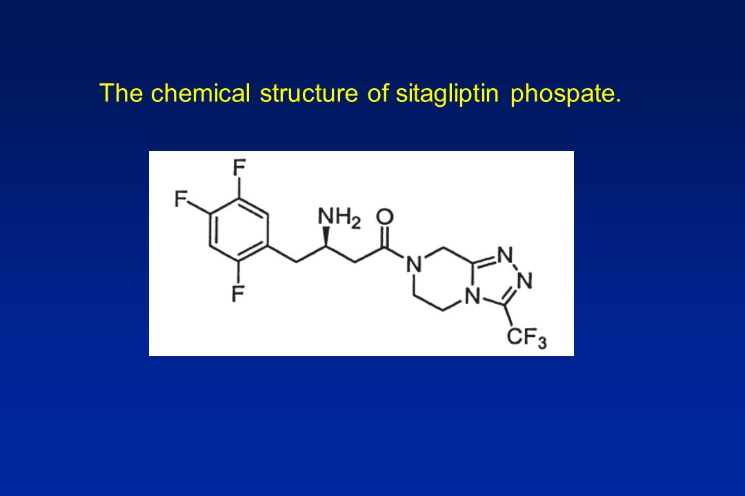 The chemical structure of sitagliptin phospate.