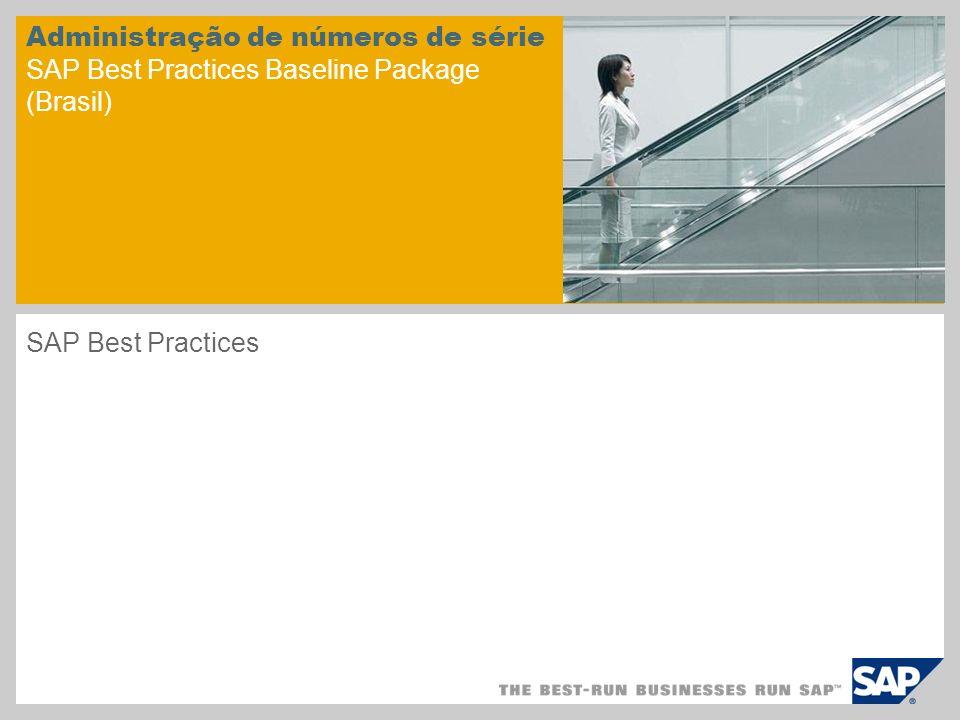 Administração de números de série SAP Best Practices Baseline Package (Brasil)