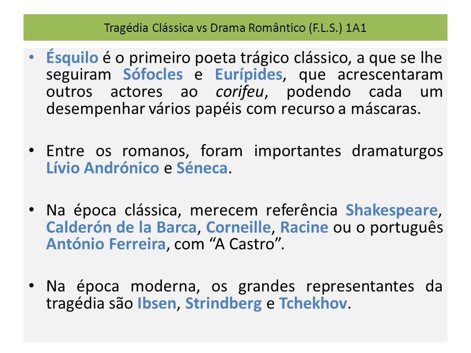 Tragédia Clássica vs Drama Romântico (F.L.S.) 1A1