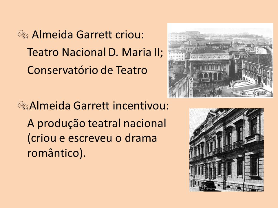  Almeida Garrett criou: