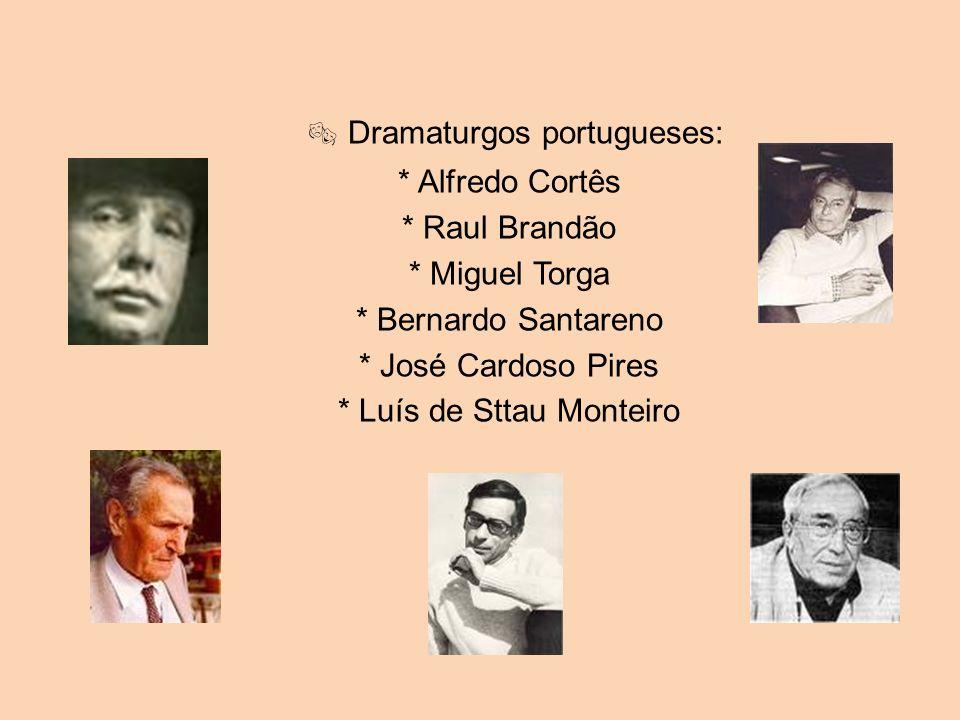  Dramaturgos portugueses: