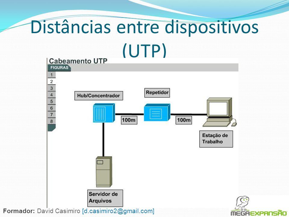 Distâncias entre dispositivos (UTP)