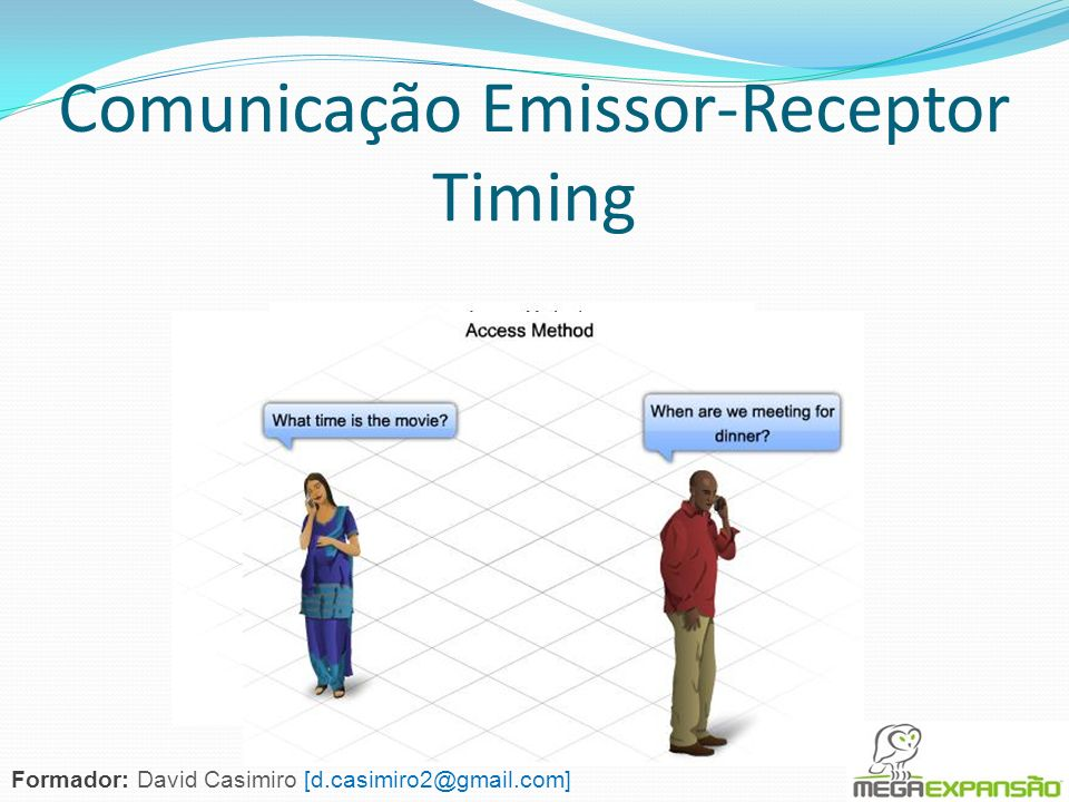 Comunicação Emissor-Receptor Timing