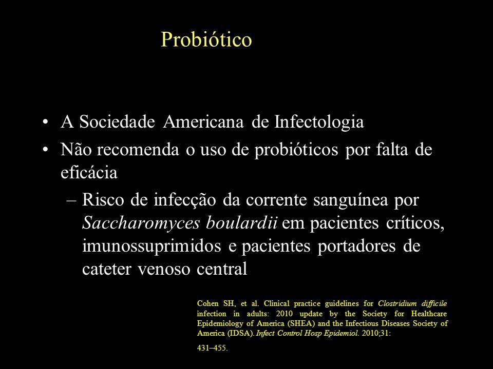 Probiótico A Sociedade Americana de Infectologia
