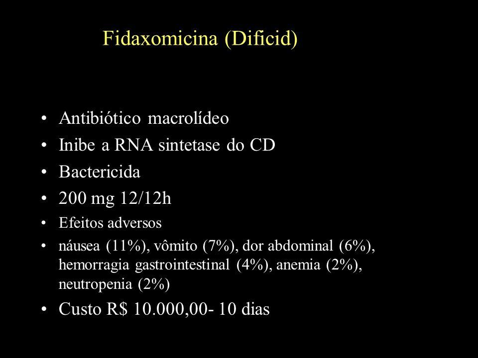 Fidaxomicina (Dificid)