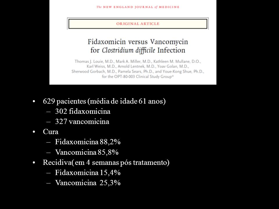 629 pacientes (média de idade 61 anos)