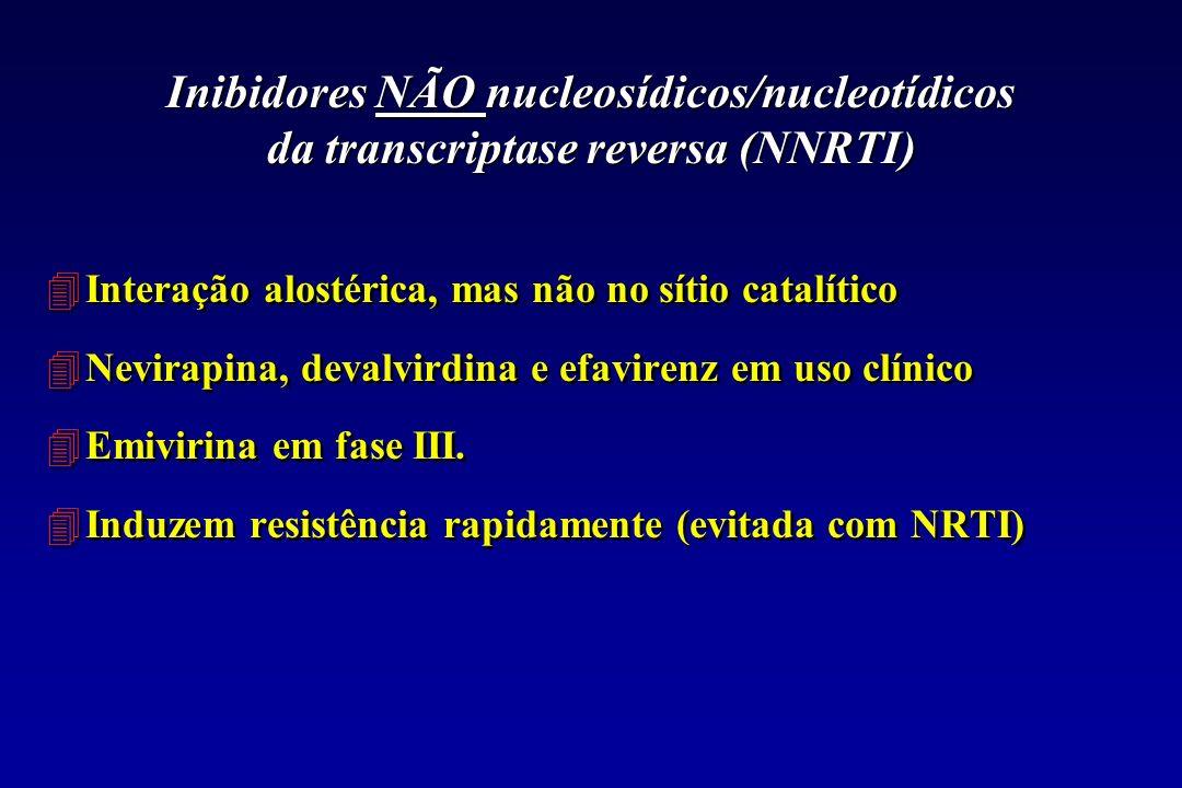 Inibidores NÃO nucleosídicos/nucleotídicos da transcriptase reversa (NNRTI)