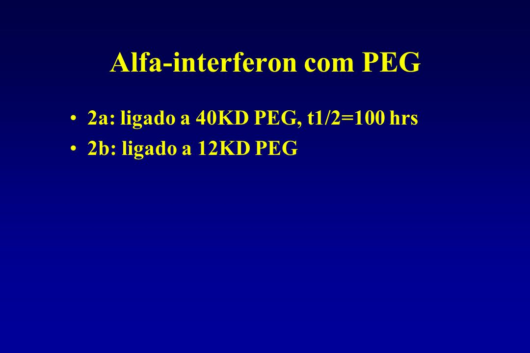 Alfa-interferon com PEG