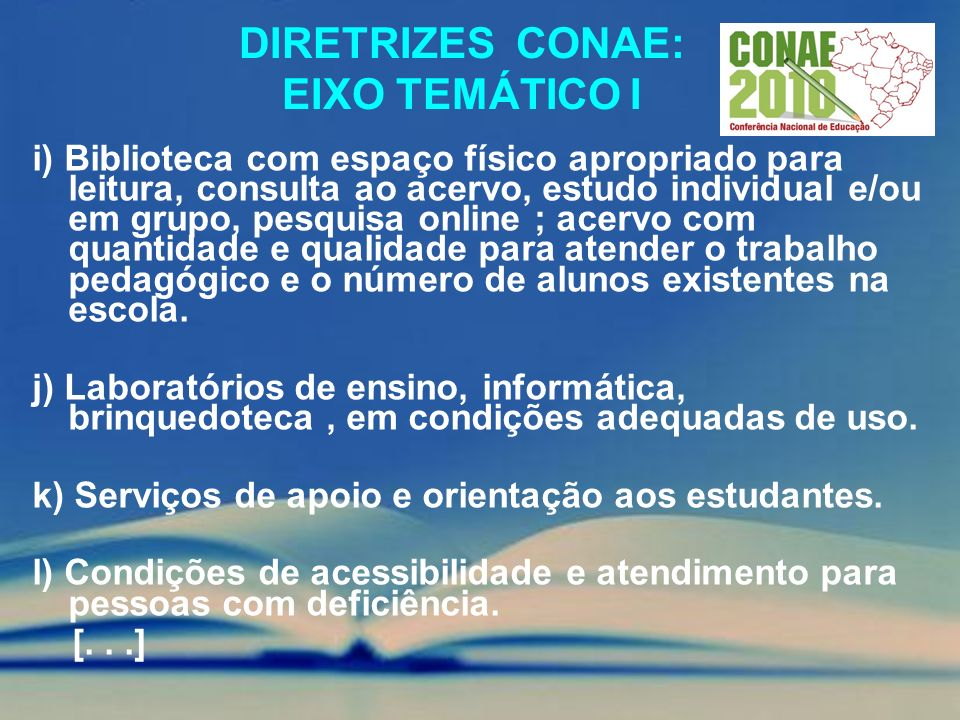 Diretrizes conae: EIXO TEMÁTICO i