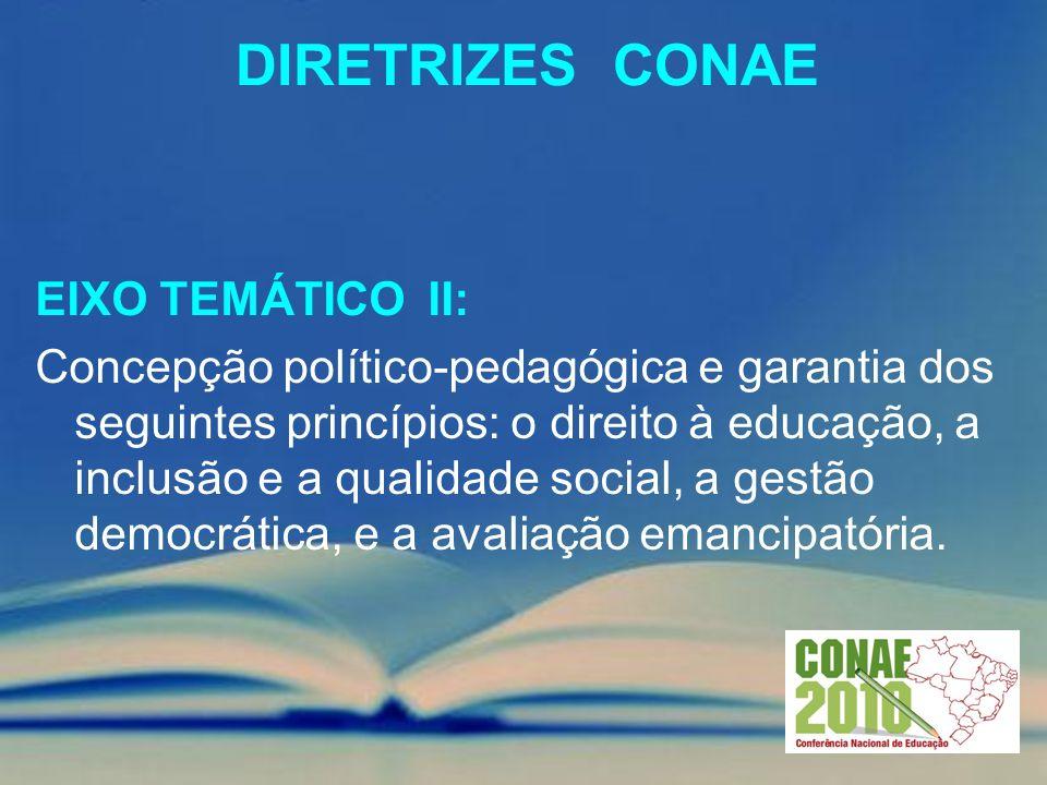 Diretrizes conae EIXO TEMÁTICO II: