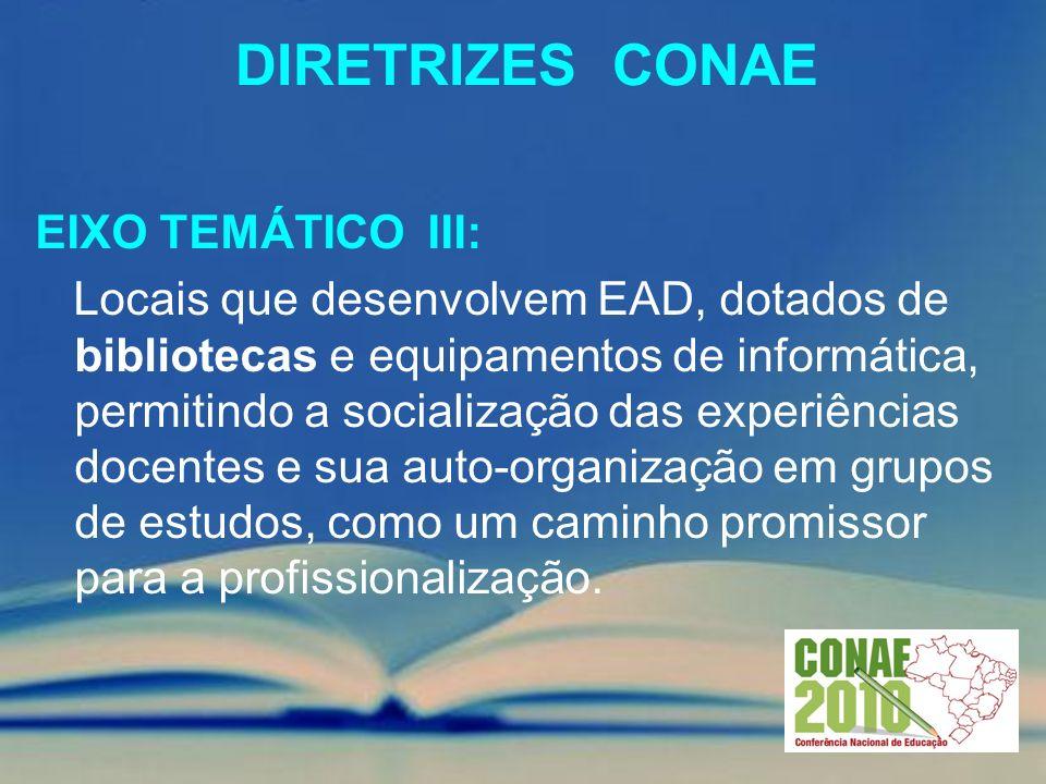 Diretrizes conae EIXO TEMÁTICO III: