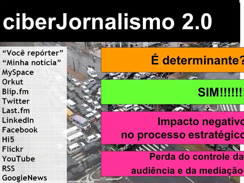 ciberJornalismo 2.0 É determinante SIM!!!!!!! Impacto negativo
