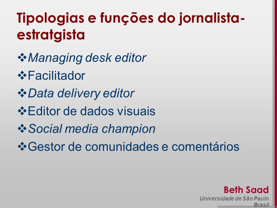 Tipologias e funções do jornalista-estratgista