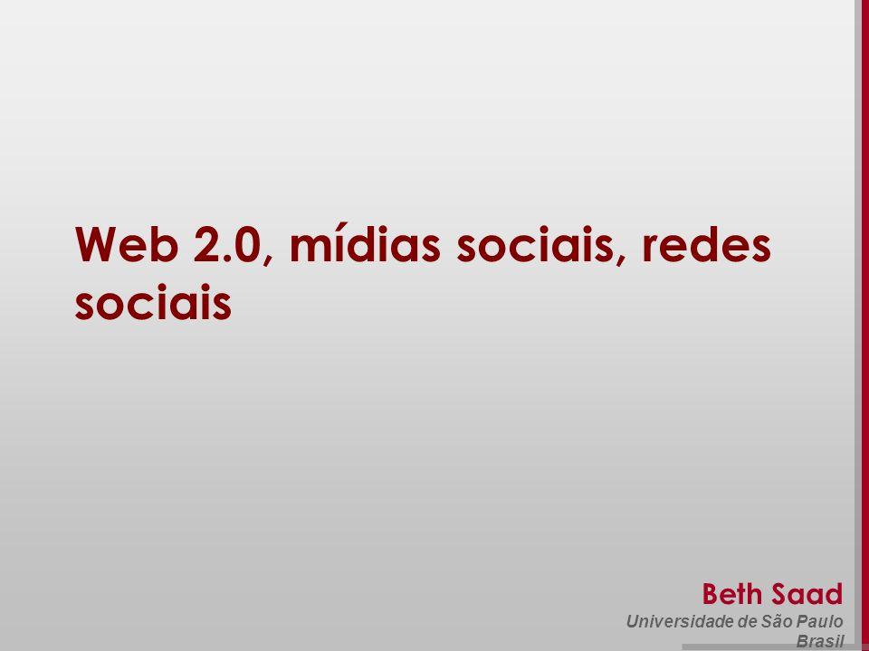 Web 2.0, mídias sociais, redes sociais