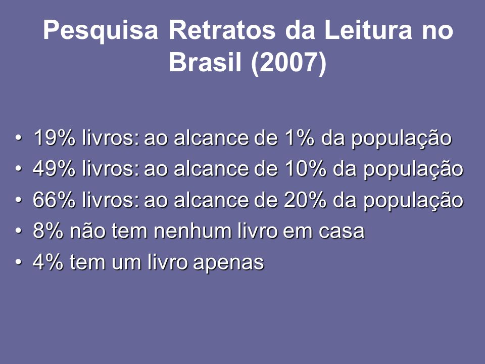 Pesquisa Retratos da Leitura no Brasil (2007)