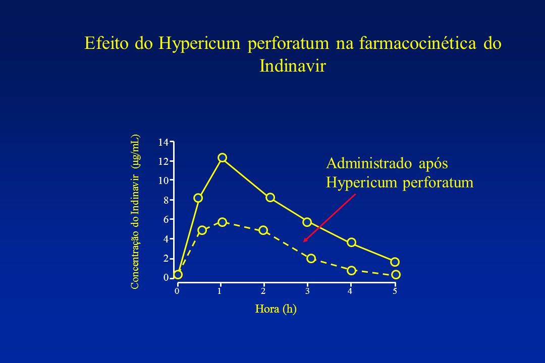 Efeito do Hypericum perforatum na farmacocinética do Indinavir