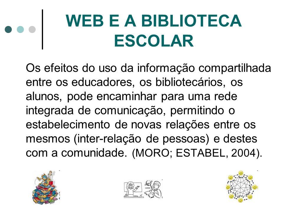 WEB E A BIBLIOTECA ESCOLAR