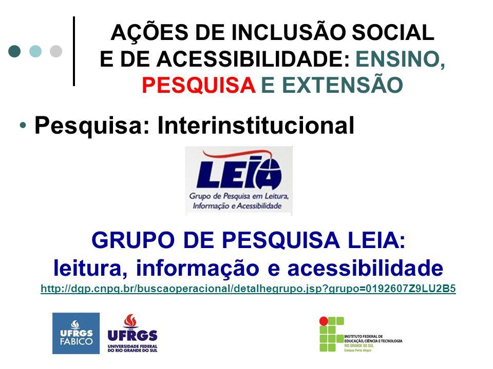 Pesquisa: Interinstitucional