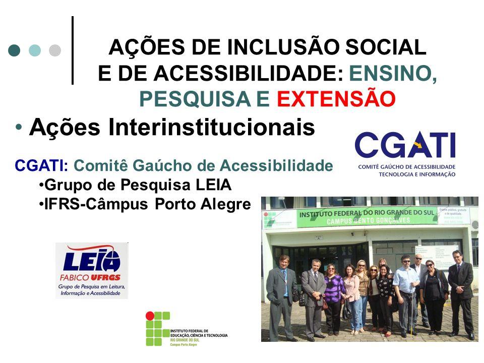 Ações Interinstitucionais