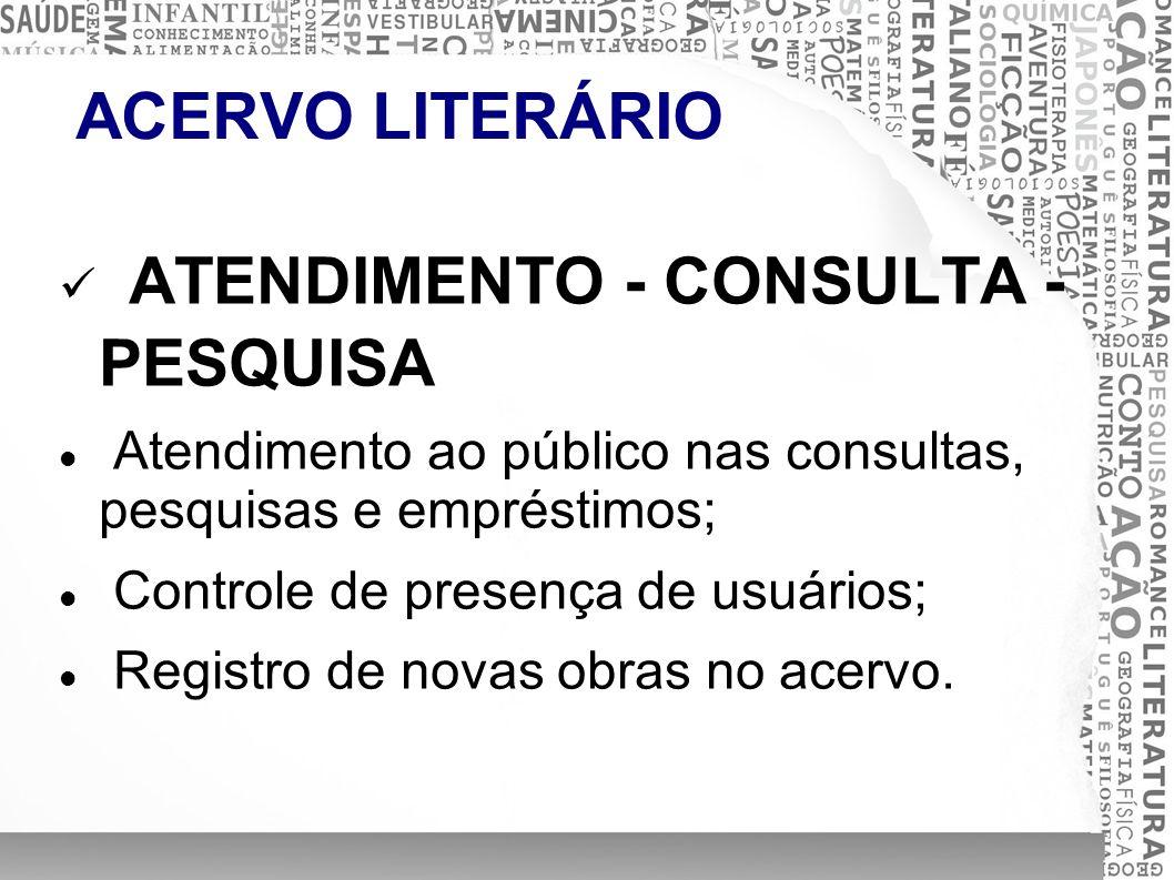 ATENDIMENTO - CONSULTA - PESQUISA