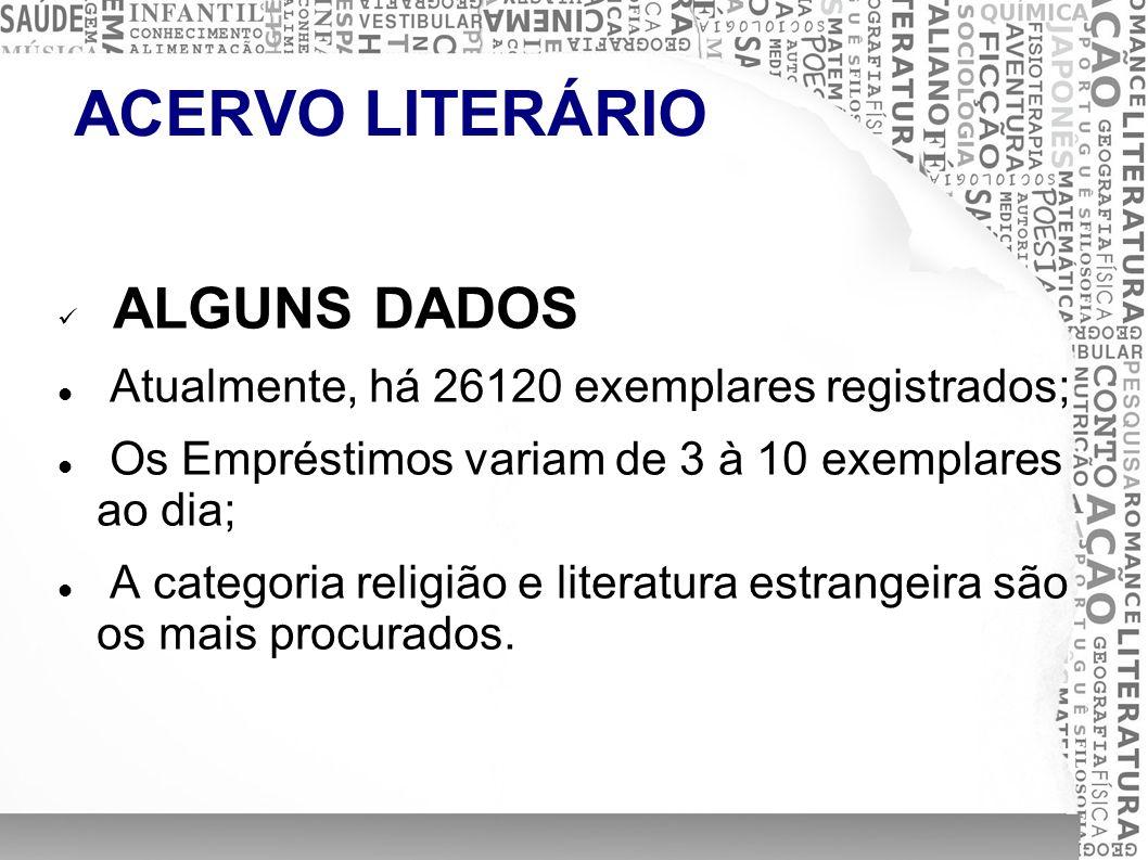 ACERVO LITERÁRIO ALGUNS DADOS