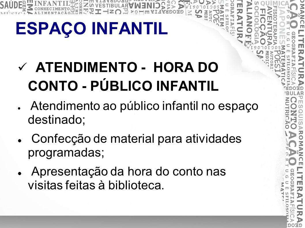 ATENDIMENTO - HORA DO CONTO - PÚBLICO INFANTIL