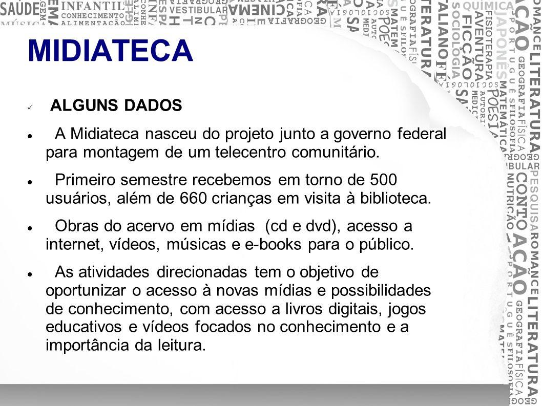 MIDIATECA ALGUNS DADOS