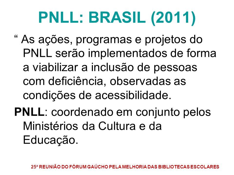 PNLL: BRASIL (2011)
